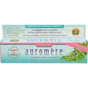 Auromere Foam-Free Toothpaste w/Cardamom & Fennel 4.16 oz