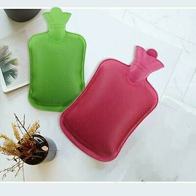 Hot Water Bottle - Natural Rubber BPA Free- Durable