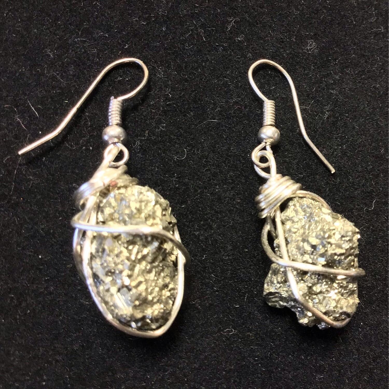 Pyrite Wrap Earrings