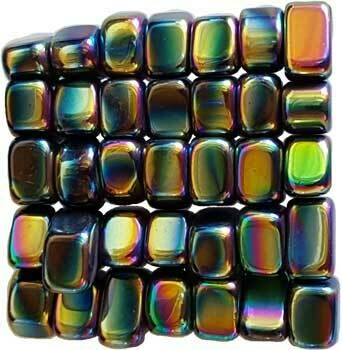 Magnetic Hematite Rainbow Tumbled Stones