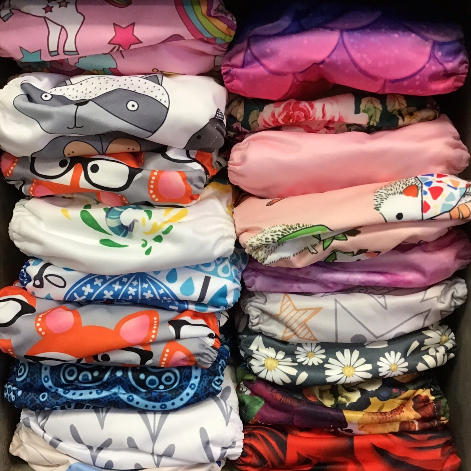 Cloth Diaper Adjustable snaps from S-L 2 100% cotton liners included