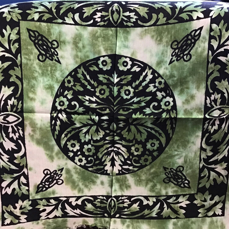 Green Man Altar Cloth 18x18