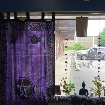 "Triple Moon Purple Curtains (pair) 44""x88"""