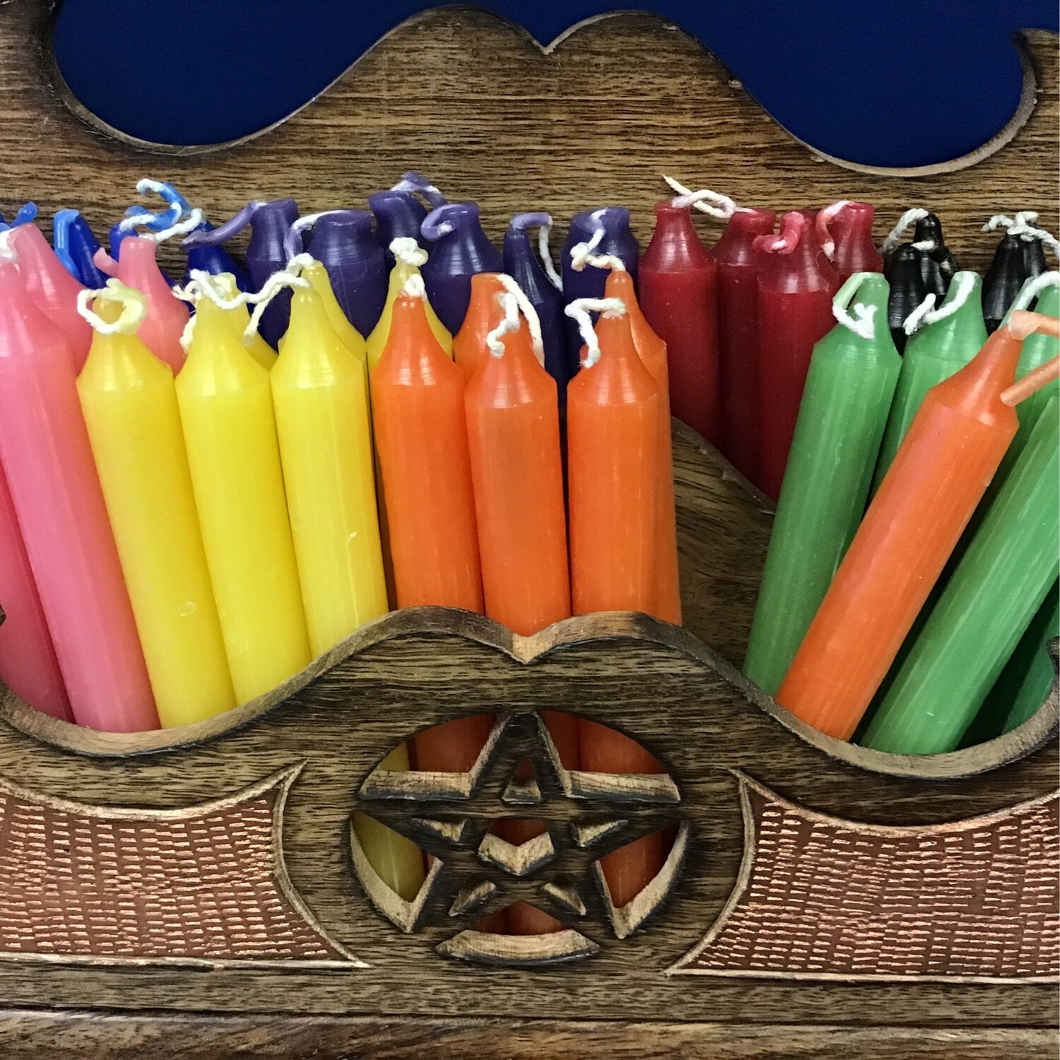 "Chime Candles 1/2"" Diameter 4"" Tall Asst. Colors"