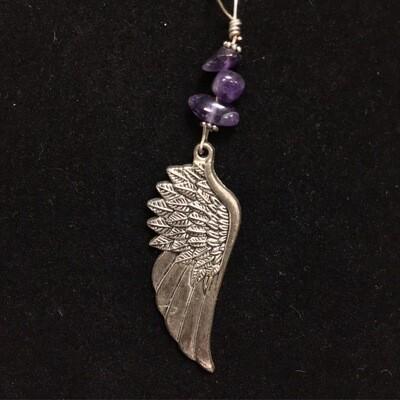 Amethyst Angel Wing