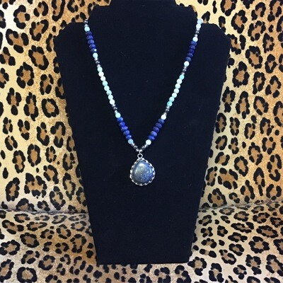 Lapis Lazuli Hematite Amazonite Necklace