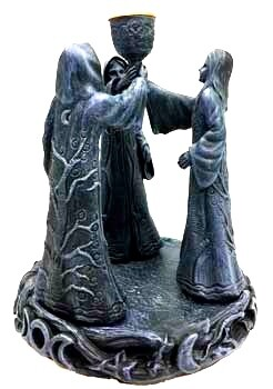 Maiden Crone Incense Holder
