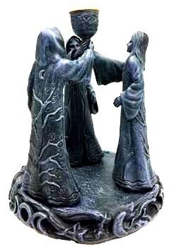 Maiden Crone Incense Holder