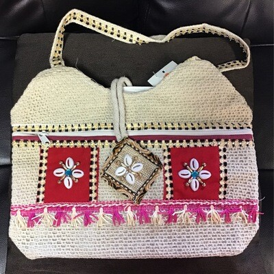 Woven Cowrie Shell Bag