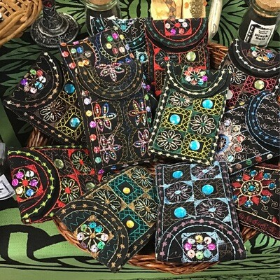 Embroidered Black Bags