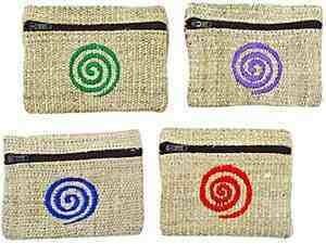 """Spiral Hemp Coins Bag Set - 4""""x3"""""""