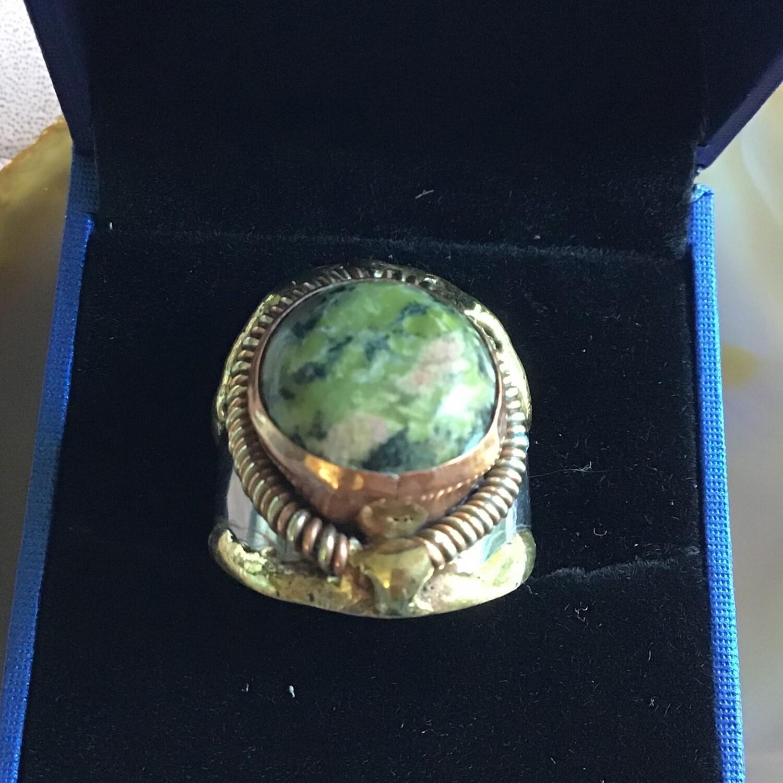 Cuff Ring w Jasper