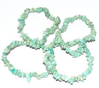 Amazonite Chips Stretch Bracelet