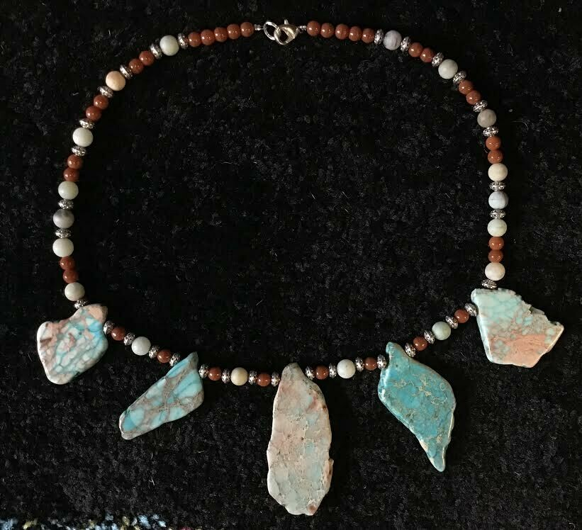 Turquoise with Agate Necklace