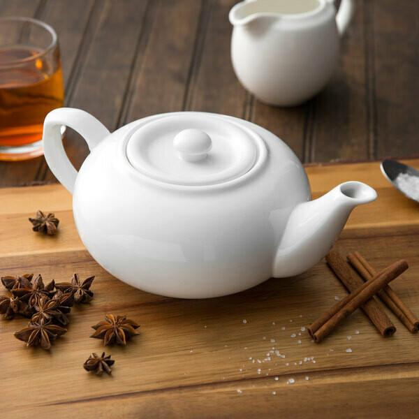 White 32 oz Tea Pot