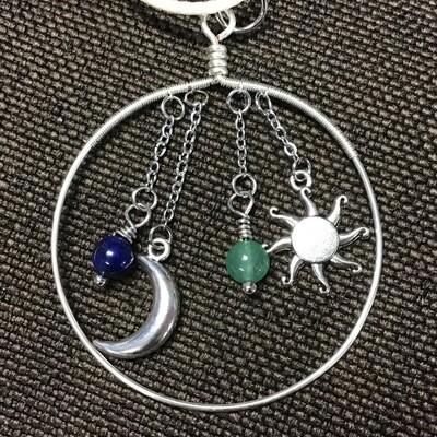 Celestial Pendant Lapis & Aventurine