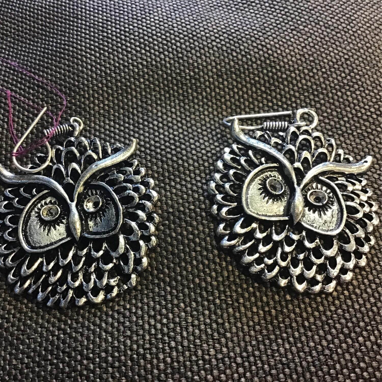 Large Owl Earrings