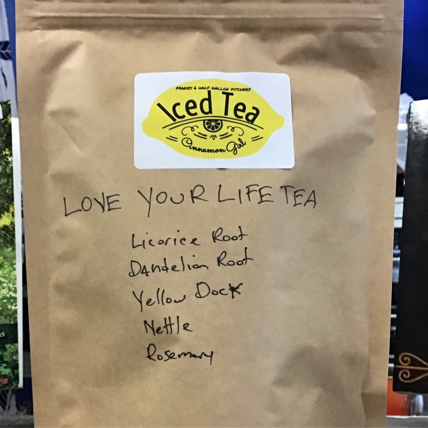 Love Your Life 6 Iced Tea Pitcher bags