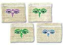 Buddha's Eye Hemp Coins Bag Set - 4.5