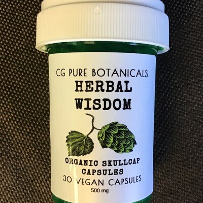 Skullcap Capsules Organic 30 Ct 500 Mg