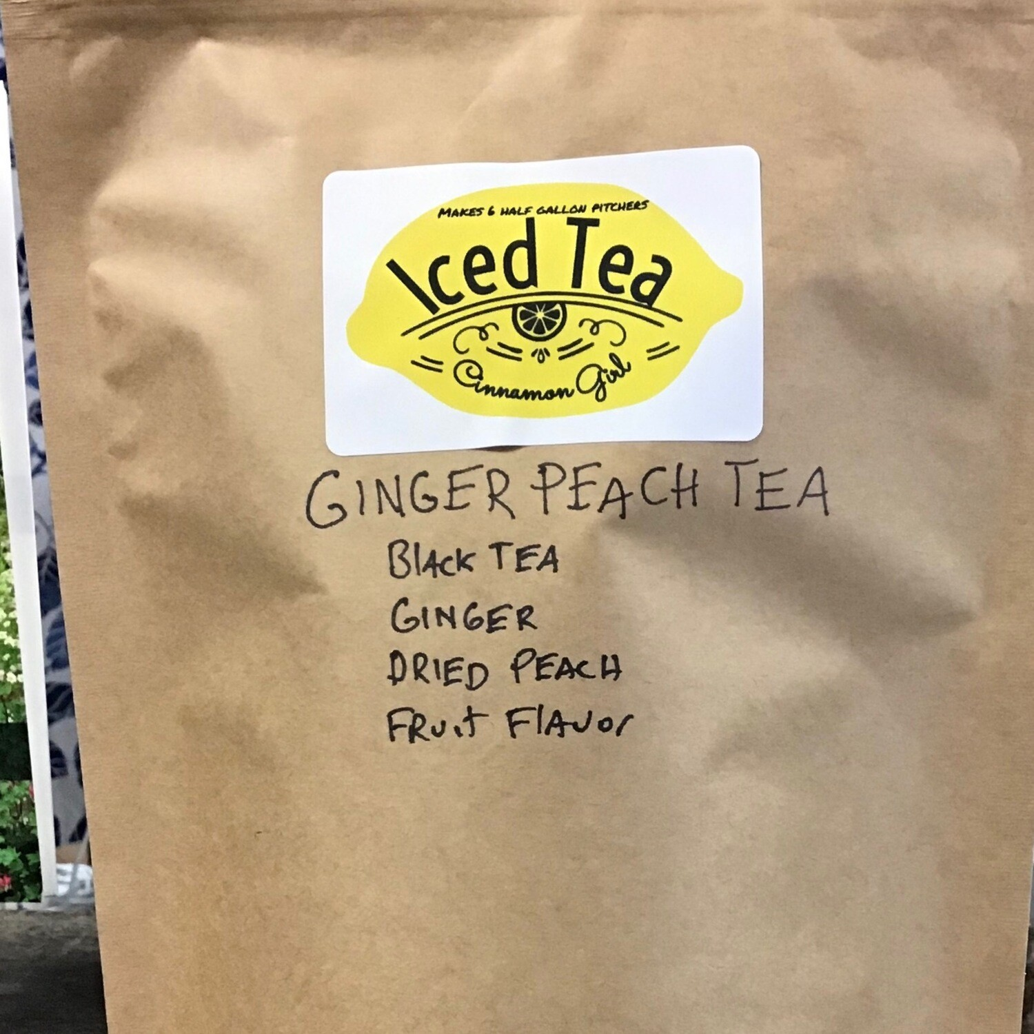 Ginger Peach 6 Iced Tea Pitcher Bags