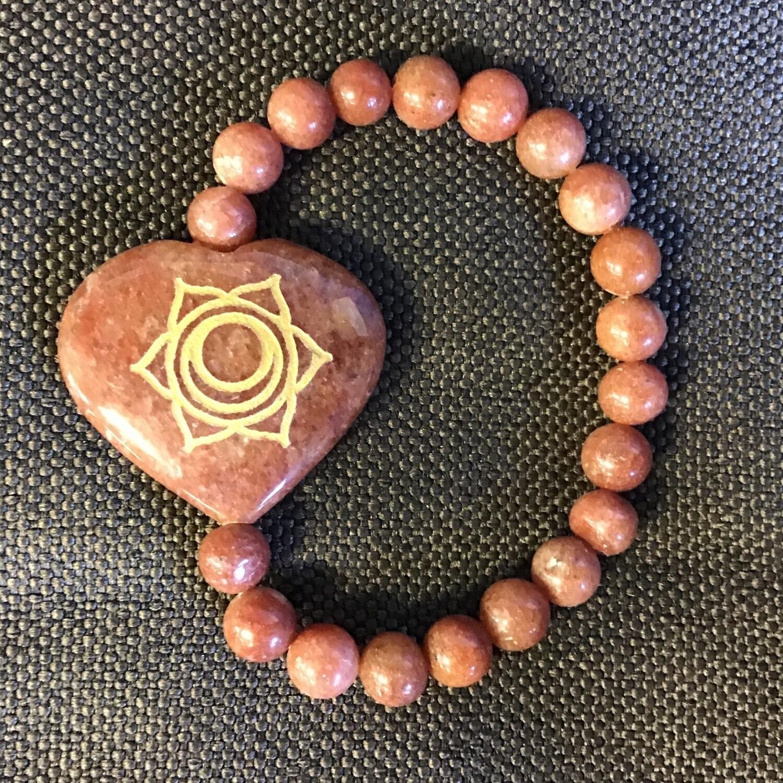 Sacral Chakra Stone Bracelet