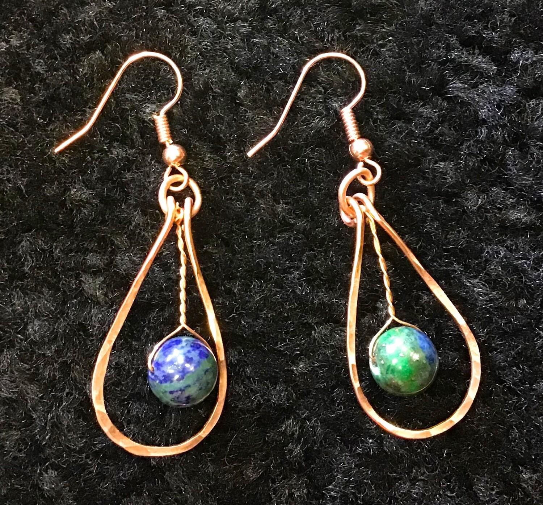 Blue Stone Copper Drops