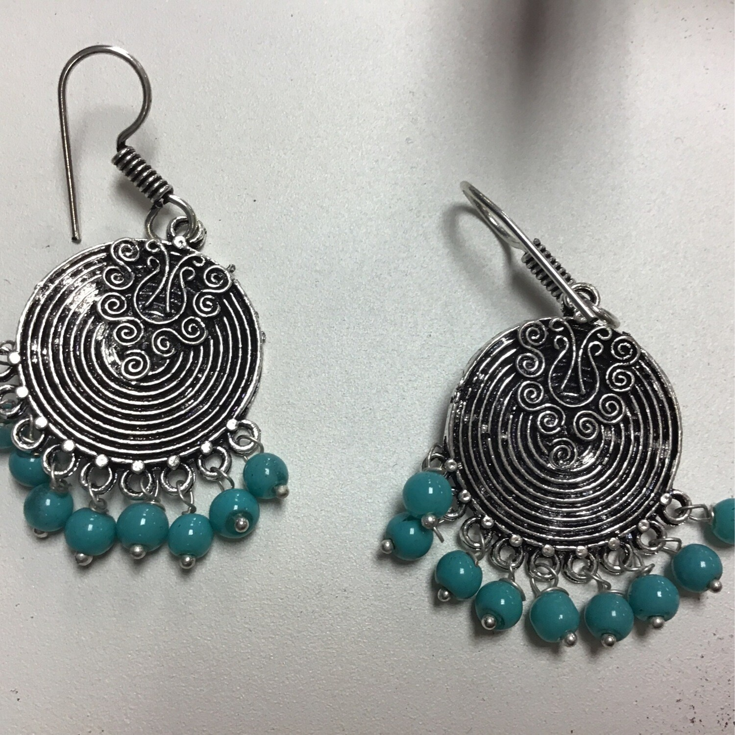 Spiral Earrings With Stones