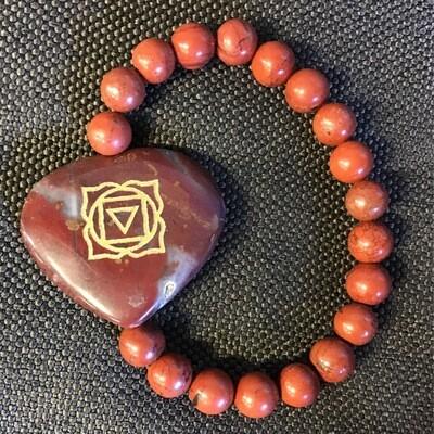 Root Charkra Stone Bracelet