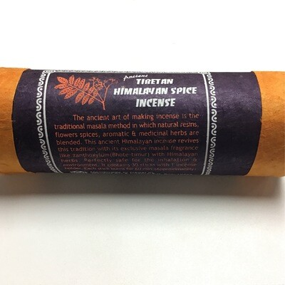 Tibetan Himalayan Spice Incense 30 Sticks And Burner