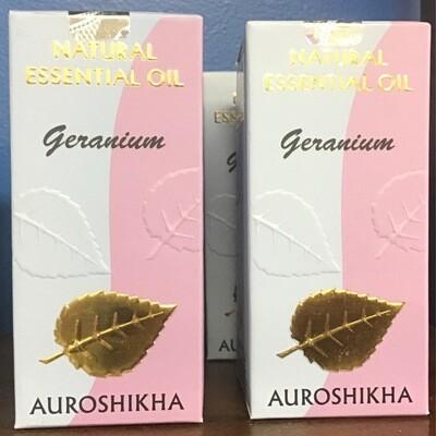 Auroshika Natural Geranium Essential Oil 10ml
