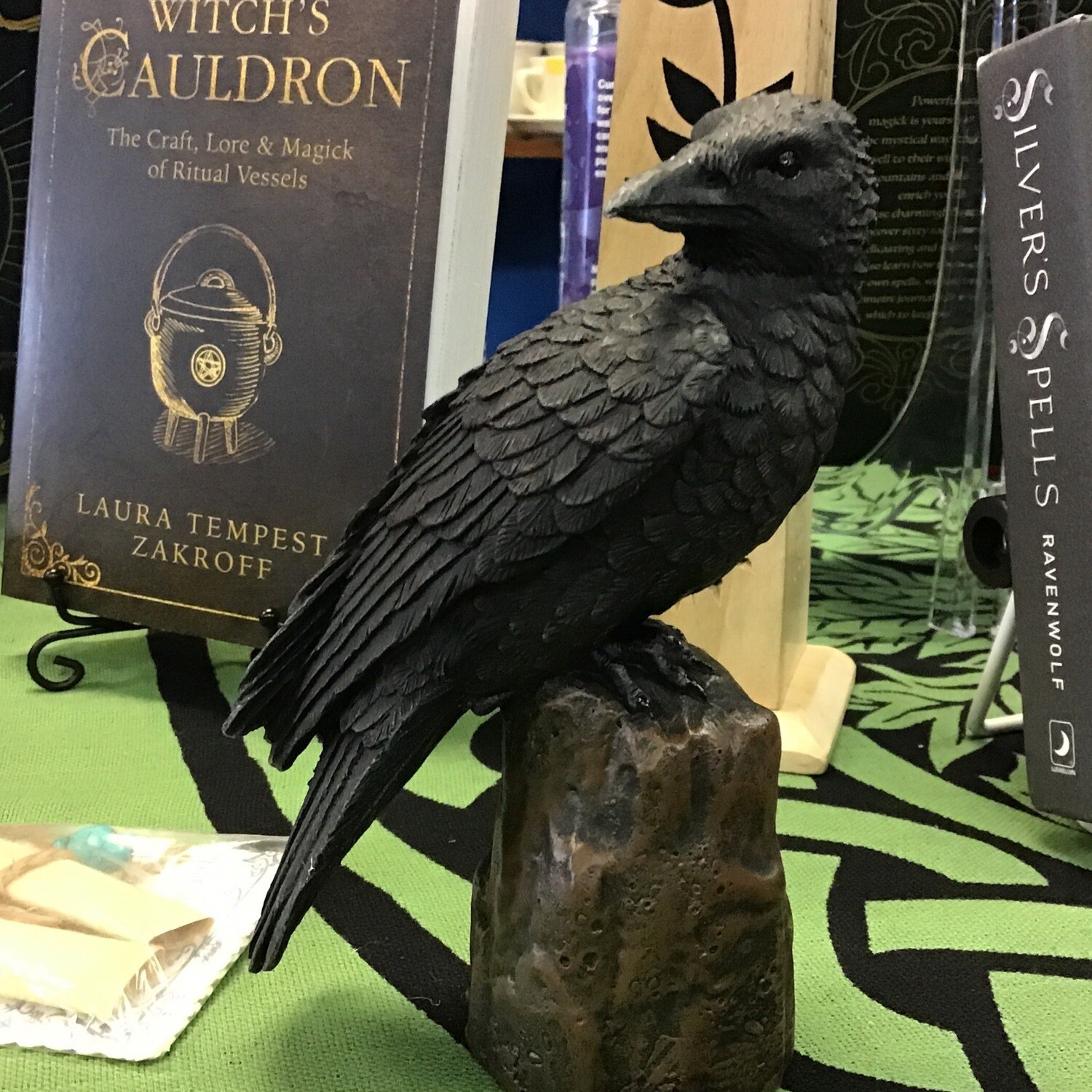 Raven Statue Facing Back
