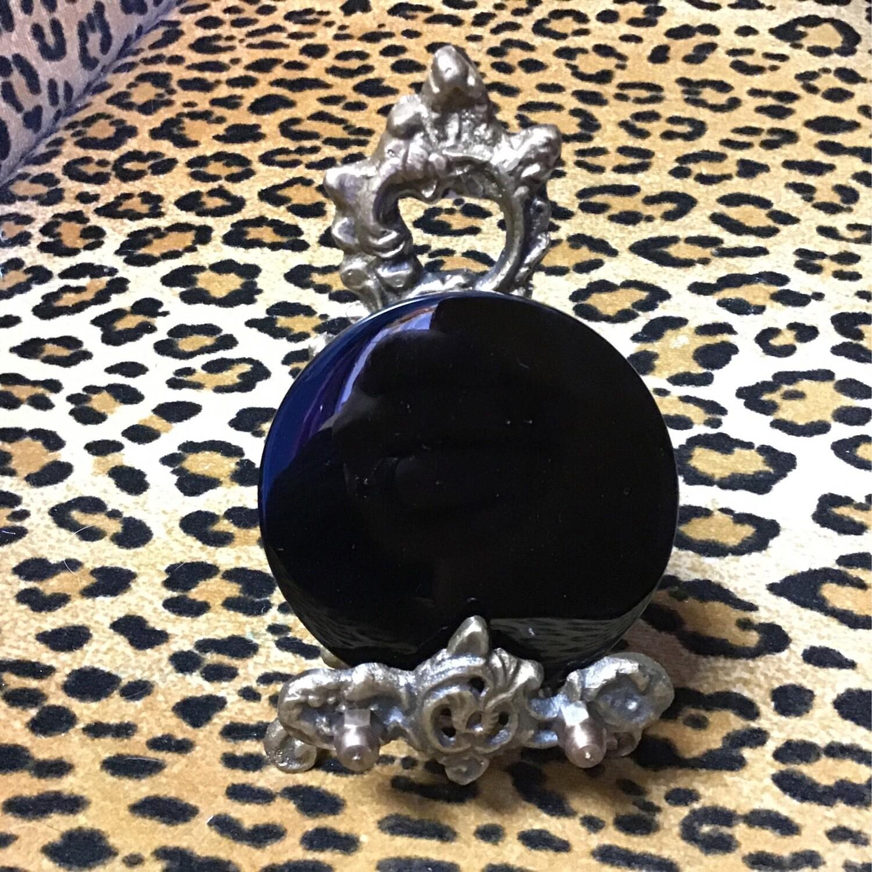 Black Obsidian Scrying Mirror Set