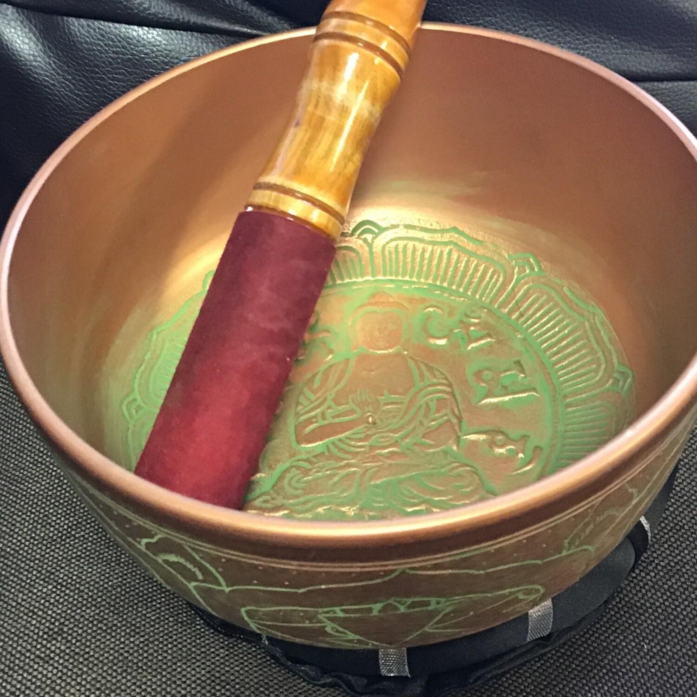 """Tibetan Singing Bowl with Cushion 6"""""""
