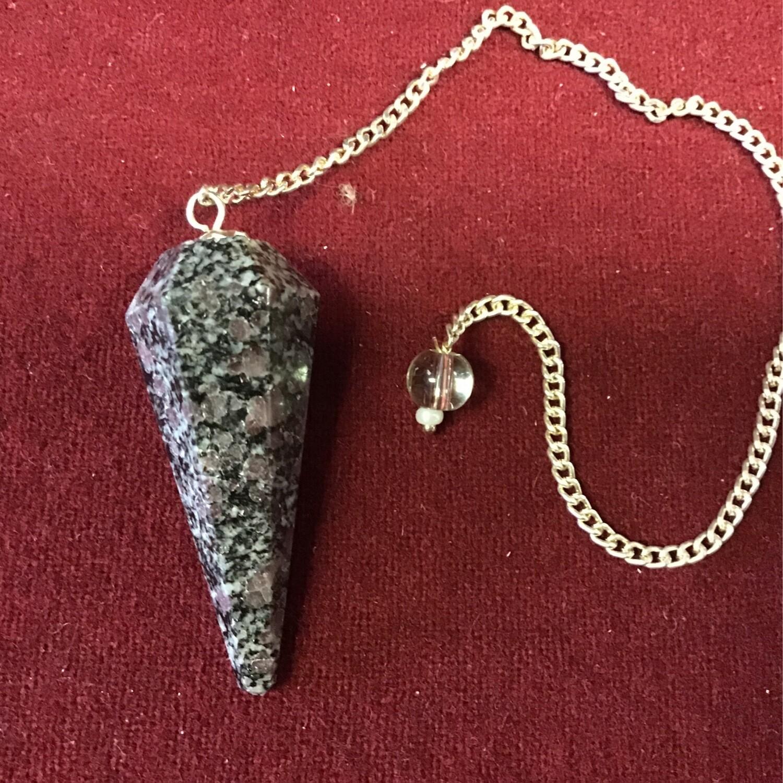 Purple & Black Stone Pendulum