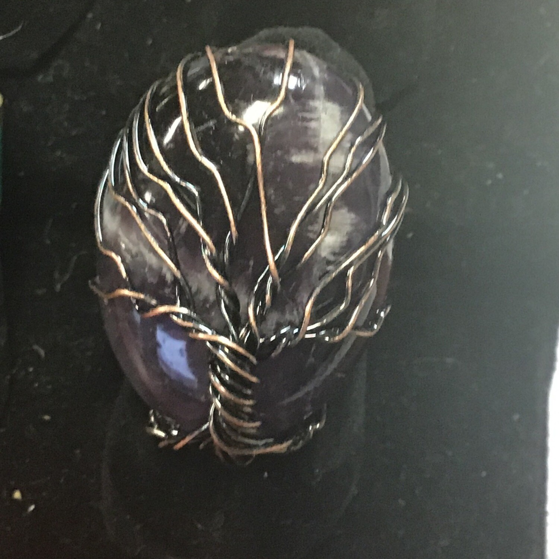 Amethyst Tree of Life Wrap Ring