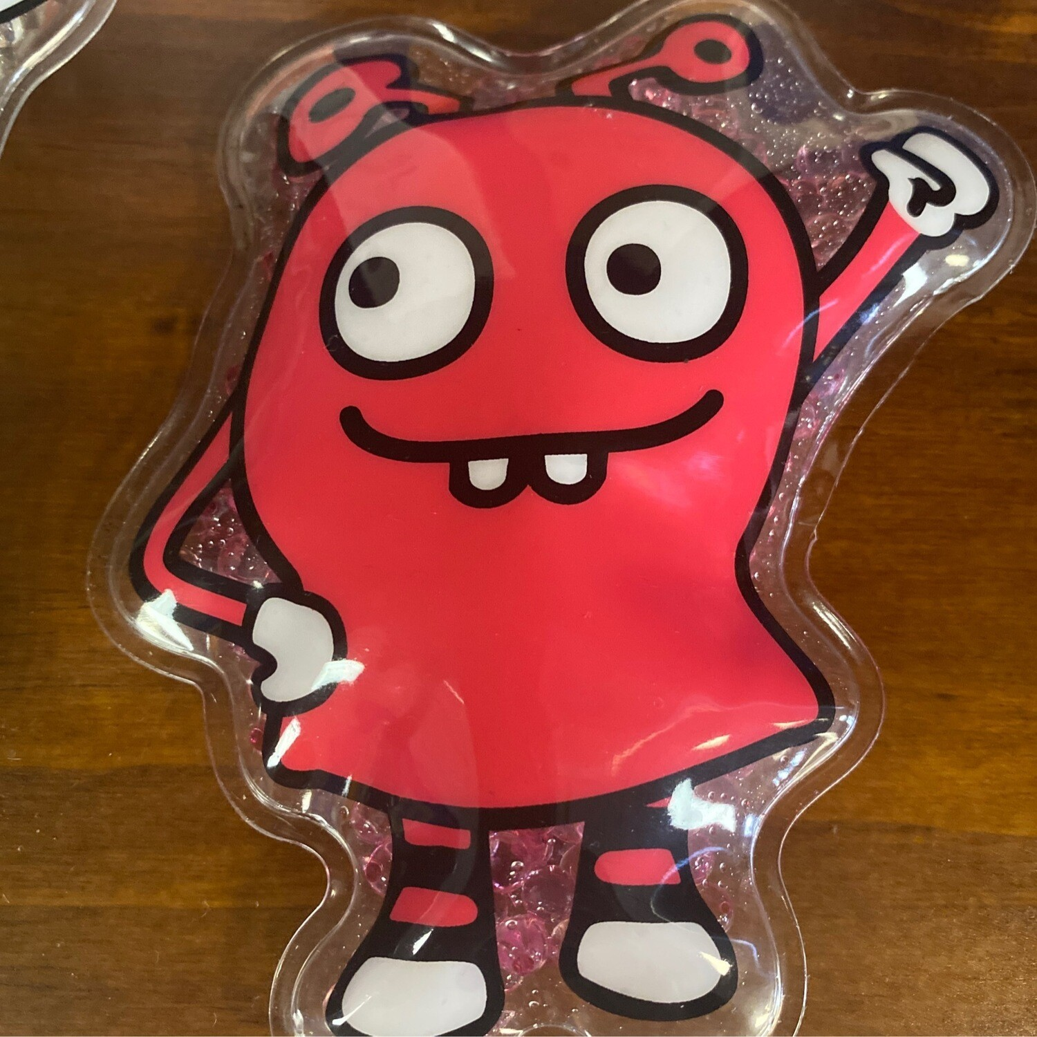 Red Monster Boo Boo Pack - Flexible Gel Cold Compress Therapy - Reusable Heat Wraps with Straps for Kids Teens & Adults
