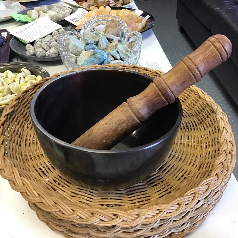 Dark Brown Tibetan Singing Bowl