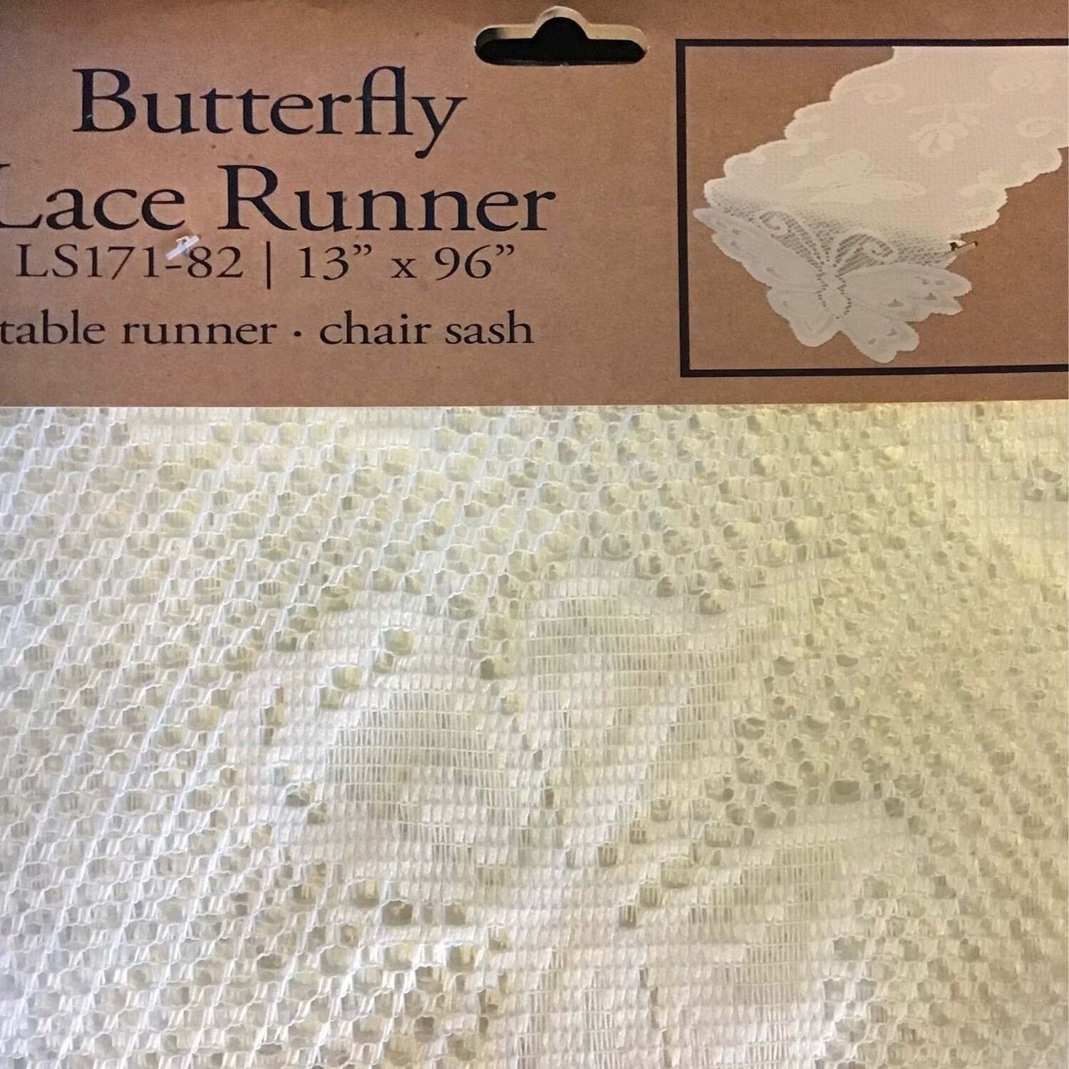 """Lace Butterfly TABLE Runner 13""""x96"""""""