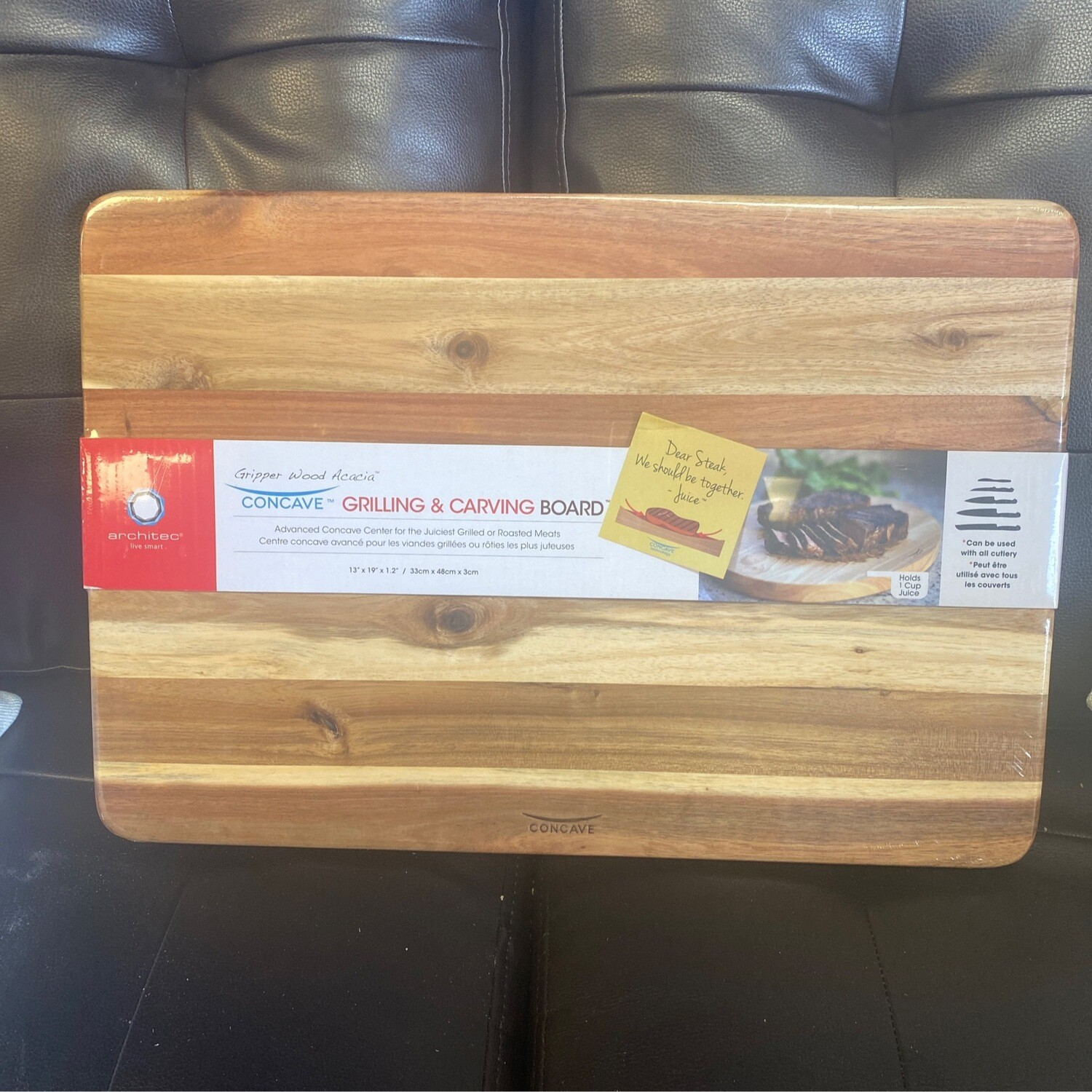 "Concave Meat Cutting Board 13""x19""x1.5"""