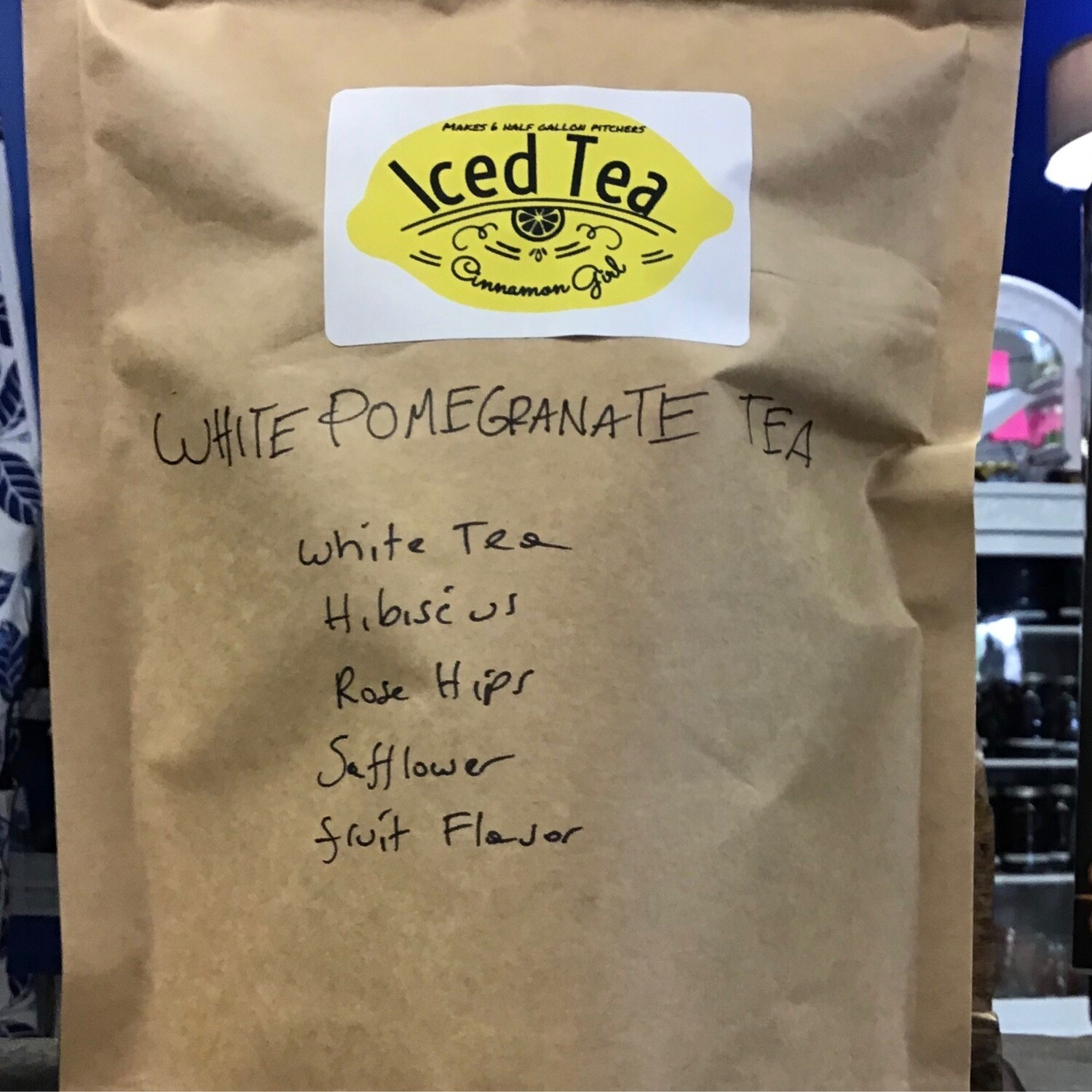 White Pomegranate 6 Iced Tea Pitcher Bags