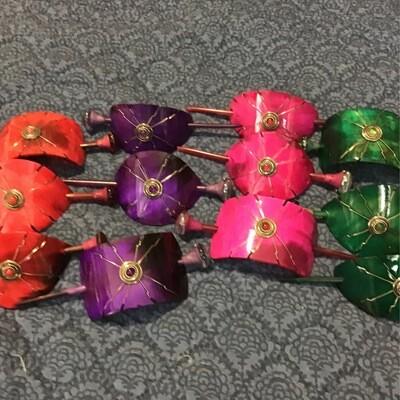 Dyed Bull Horn Hair Pins