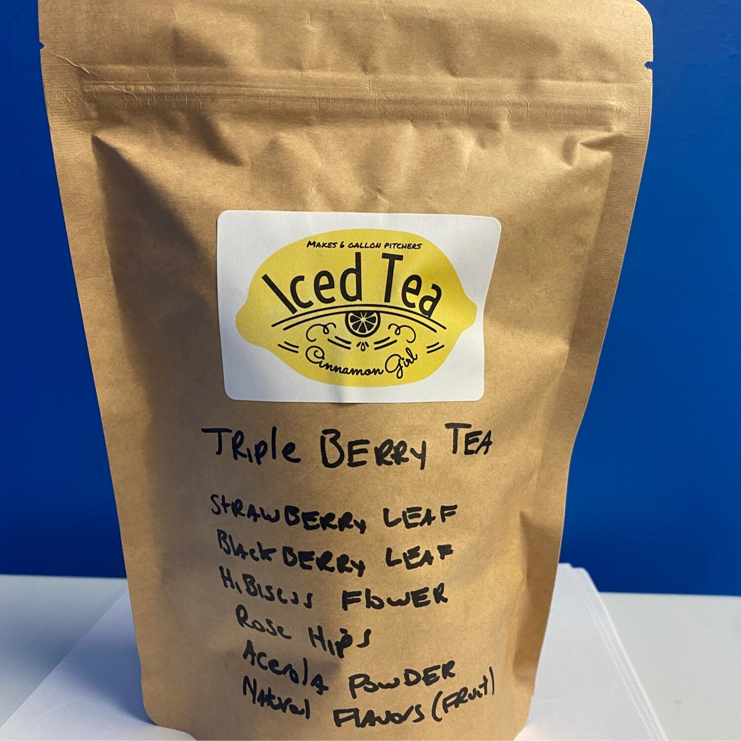 Triple Berry Iced Tea Pitcher Bags Makes  6 (1 gallon pitchers)