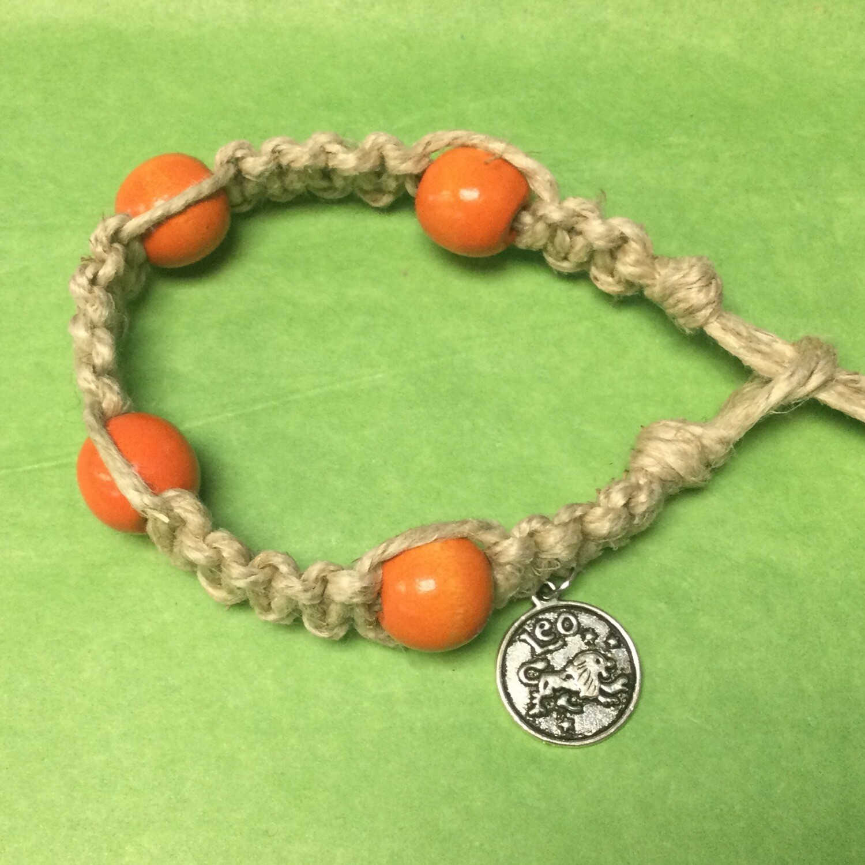Leo zodiac hemp bracelet