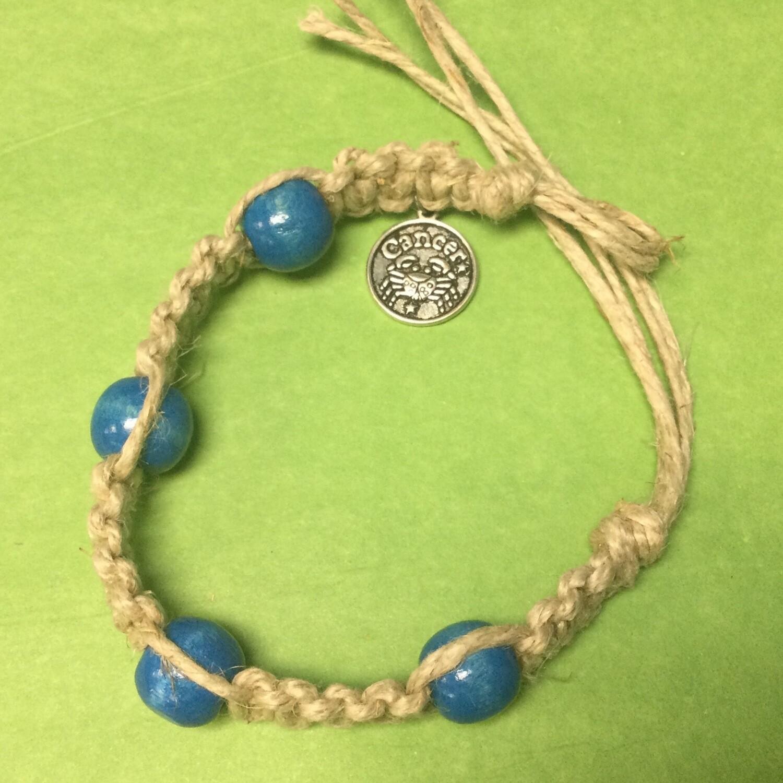 Cancer Zodiac Hemp bracelet