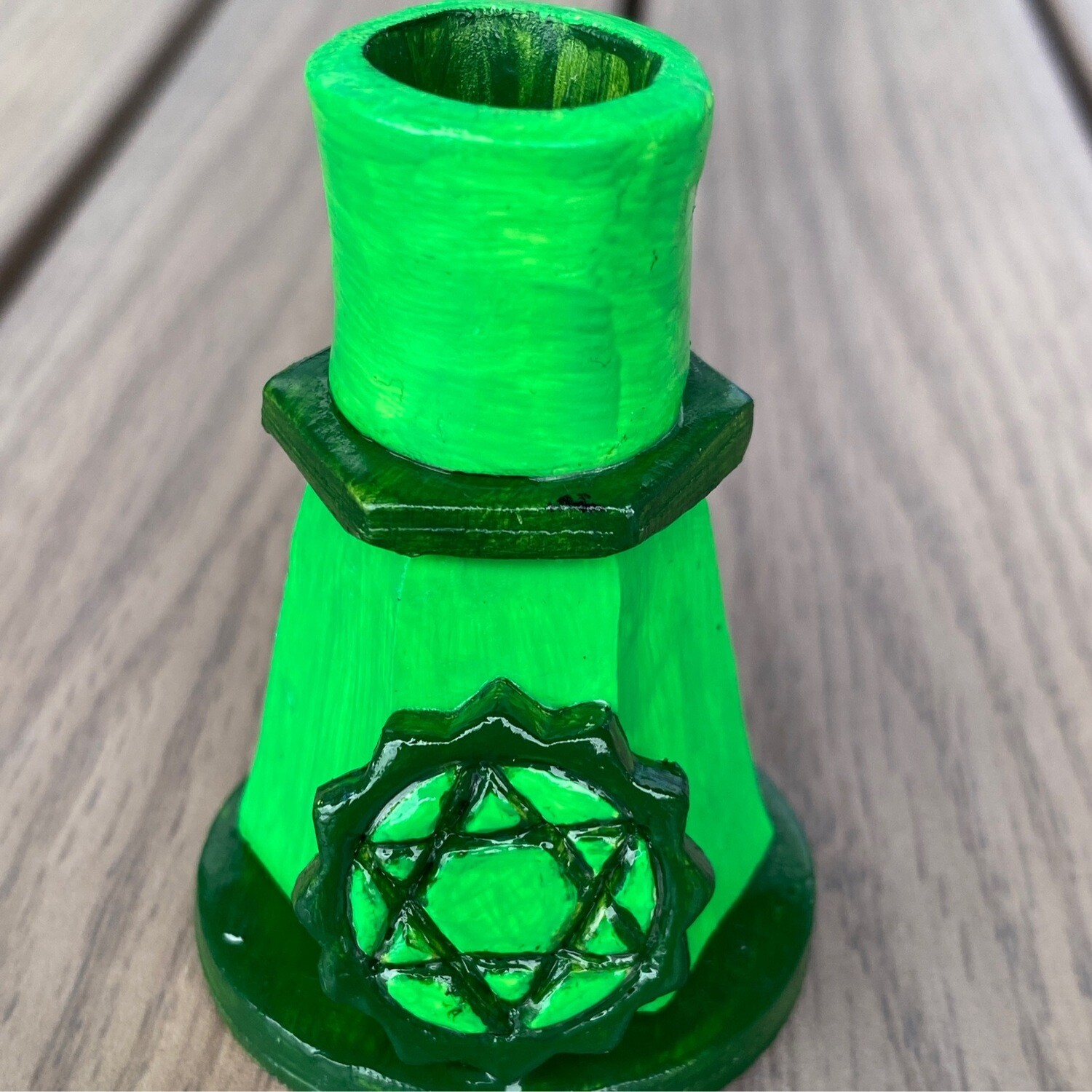Spell Candle Holder Heart Chakra