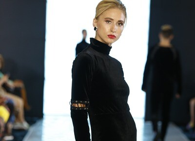 5 Piece Black Velvet  Body Suit
