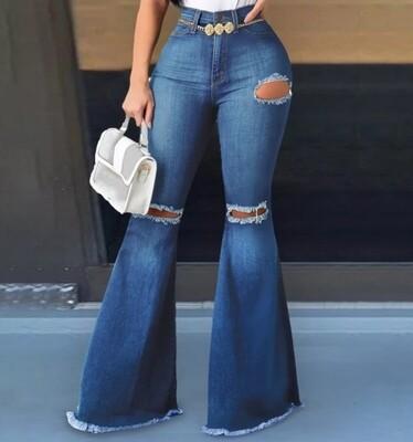 Wide bottom jeans