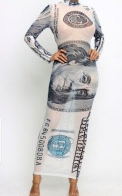 Money print dress