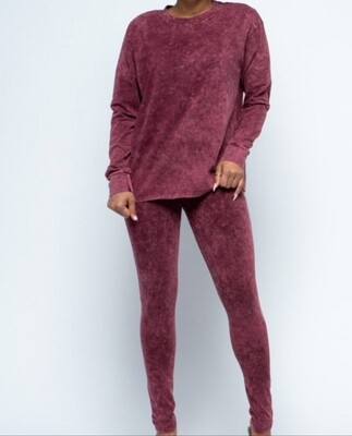 Burgundy legging set